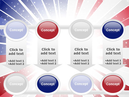 American Flag Stylized PowerPoint Template Slide 18