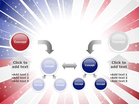 American Flag Stylized PowerPoint Template Slide 19