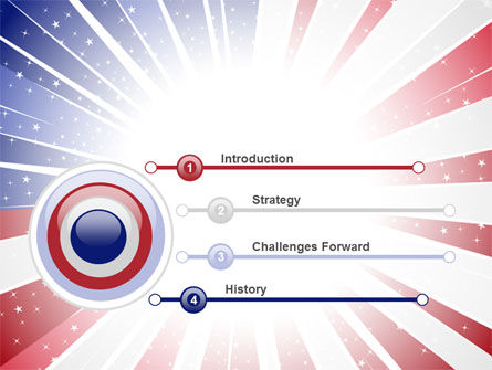 American Flag Stylized PowerPoint Template Slide 3