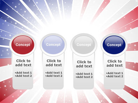 American Flag Stylized PowerPoint Template Slide 5