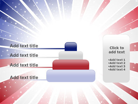 American Flag Stylized PowerPoint Template Slide 8