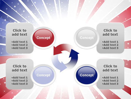 American Flag Stylized PowerPoint Template Slide 9