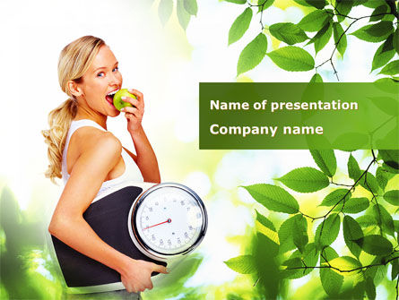 Healthy Lifestyle PowerPoint Template, 09080, Health and Recreation — PoweredTemplate.com