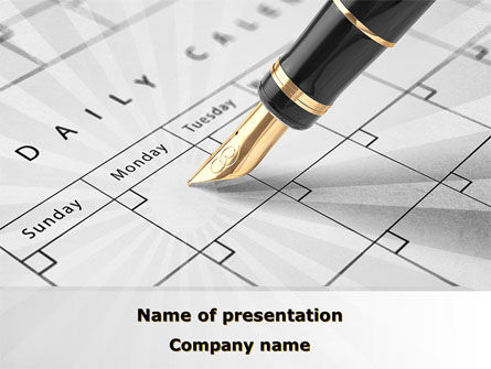 Business: Diary PowerPoint Template #09081