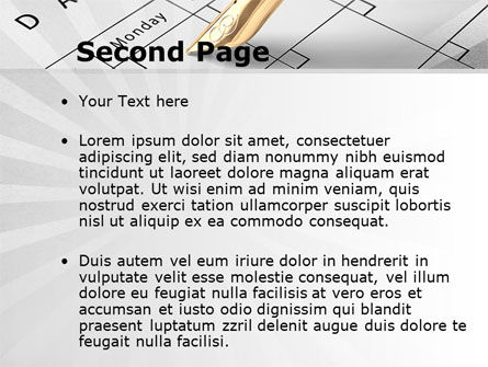 Diary PowerPoint Template Slide 2