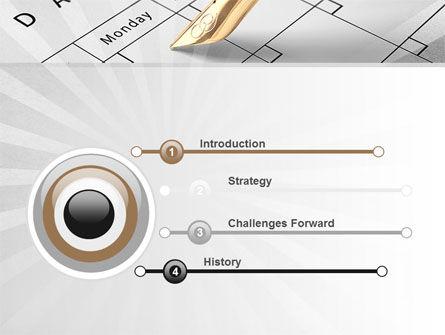 Diary PowerPoint Template, Slide 3, 09081, Business — PoweredTemplate.com