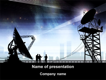 Telecommunication: 天线PowerPoint模板 #09082