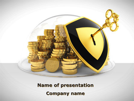 Key Savings Protection PowerPoint Template, 09085, Financial/Accounting — PoweredTemplate.com