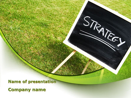 Business Concepts: Strategy Sign PowerPoint Template #09087