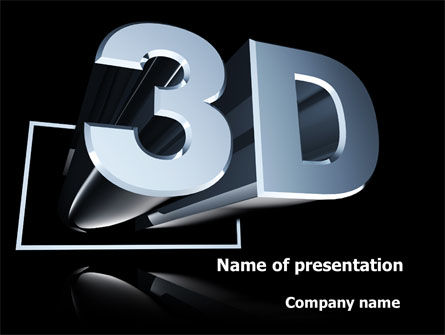 Three Dimensions Visual Technology PowerPoint Template, 09089, Technology and Science — PoweredTemplate.com