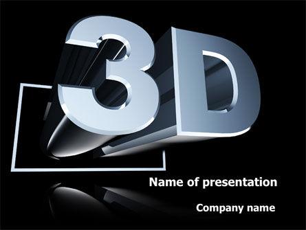 Technology and Science: Plantilla de PowerPoint - tecnología visual en tres dimensiones #09089