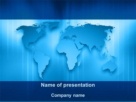 World Mainland's PowerPoint Template, 09090, Global — PoweredTemplate.com