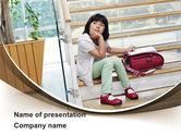 Education & Training: Schoolmeisje PowerPoint Template #09091