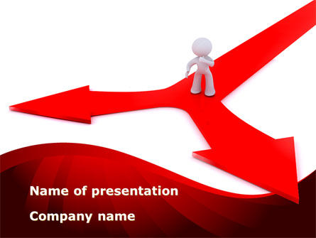Business: Direction Of Motion PowerPoint Template #09092