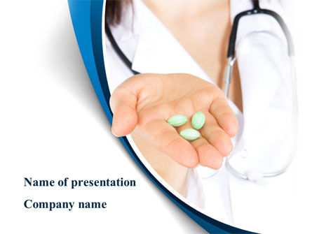 Medical: Medicine in Tablets PowerPoint Template #09093