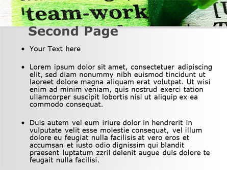Teamwork Training Principles PowerPoint Template, Slide 2, 09094, Business — PoweredTemplate.com