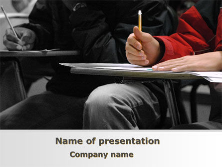 Student in a Lecture PowerPoint Template, 09095, Education & Training — PoweredTemplate.com