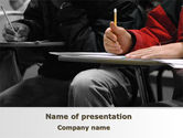 Education & Training: Student in a Lecture PowerPoint Template #09095