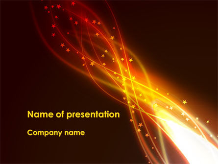 Abstract/Textures: Fire Glow PowerPoint Template #09097