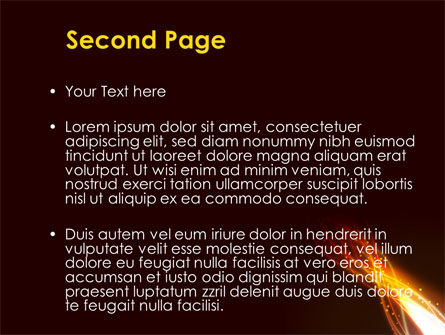 Fire Glow PowerPoint Template Slide 2
