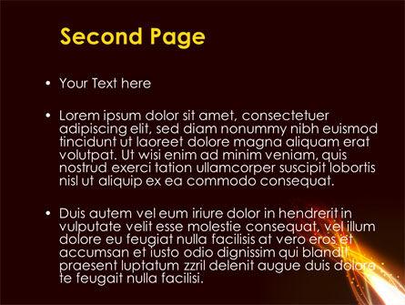 Fire Glow PowerPoint Template, Slide 2, 09097, Abstract/Textures — PoweredTemplate.com