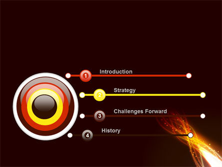 Fire Glow PowerPoint Template, Slide 3, 09097, Abstract/Textures — PoweredTemplate.com