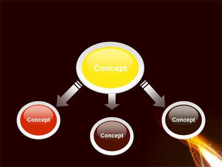Fire Glow PowerPoint Template, Slide 4, 09097, Abstract/Textures — PoweredTemplate.com