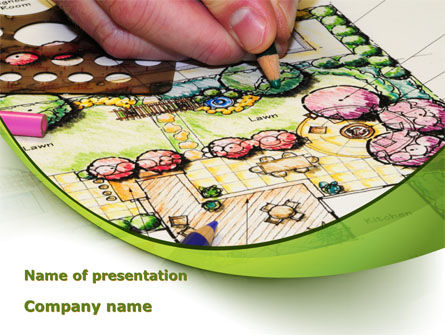 Construction: Garden Planning PowerPoint Template #09098