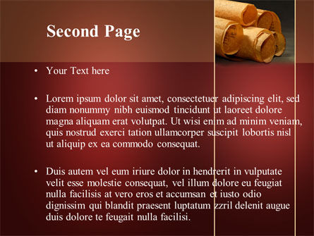 Scrolls PowerPoint Template Slide 2