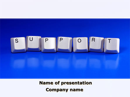 Computers: Support Keys PowerPoint Template #09101