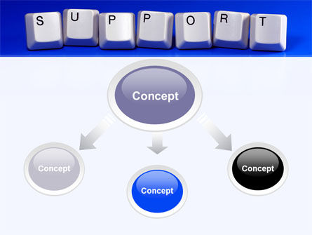 Support Keys PowerPoint Template, Slide 4, 09101, Computers — PoweredTemplate.com