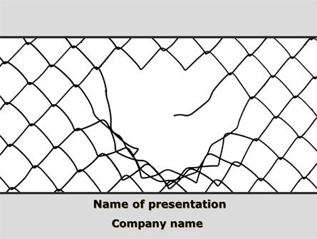 Breakthrough The Net PowerPoint Template