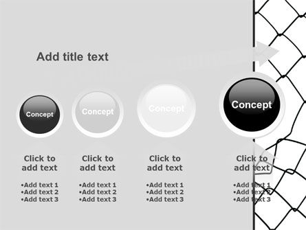 Breakthrough The Net PowerPoint Template Slide 13