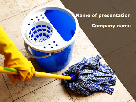 Business: Cleaning PowerPoint Template #09105