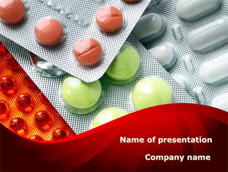 Tablets In Assortment PowerPoint Template, 09106, Medical — PoweredTemplate.com