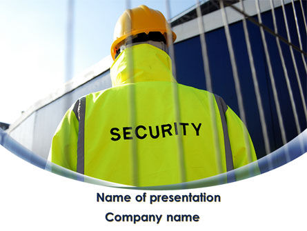 Security Officer PowerPoint Template, 09108, Careers/Industry — PoweredTemplate.com