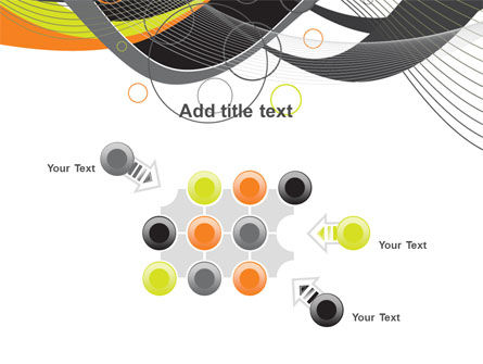 Gray Yellow Wave PowerPoint Template Slide 10