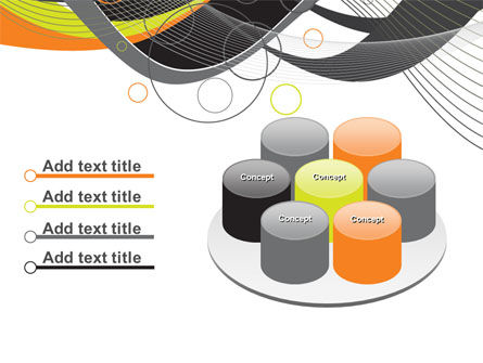 Gray Yellow Wave PowerPoint Template Slide 12