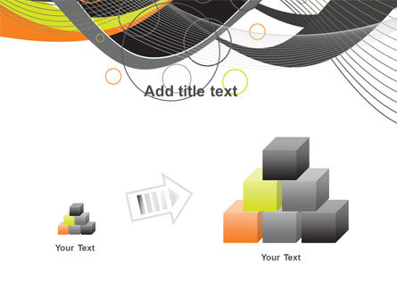 Gray Yellow Wave PowerPoint Template Slide 13
