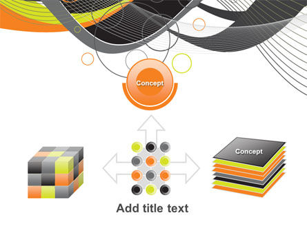 Gray Yellow Wave PowerPoint Template Slide 19