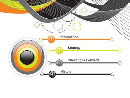 Gray Yellow Wave PowerPoint Template, Slide 3, 09110, Abstract/Textures — PoweredTemplate.com
