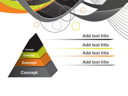 Gray Yellow Wave PowerPoint Template, Slide 4, 09110, Abstract/Textures — PoweredTemplate.com