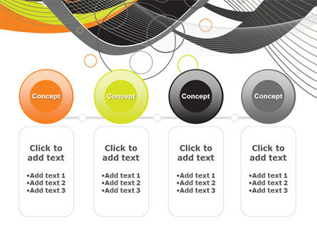 Gray Yellow Wave PowerPoint Template Slide 5