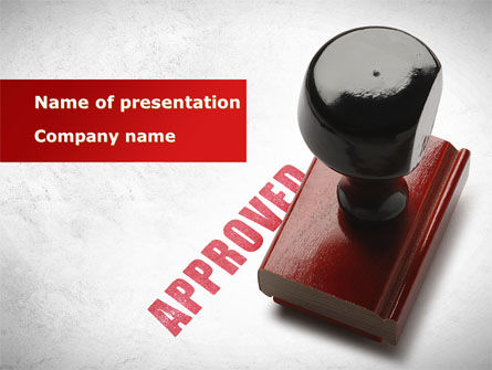 Approved Stamp PowerPoint Template, 09111, Business Concepts — PoweredTemplate.com