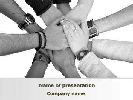 Hands To Hands PowerPoint Template