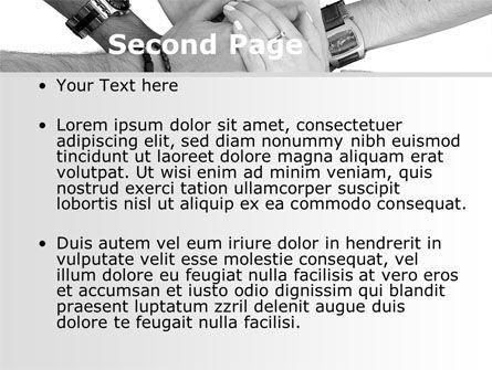 Hands To Hands PowerPoint Template Slide 2