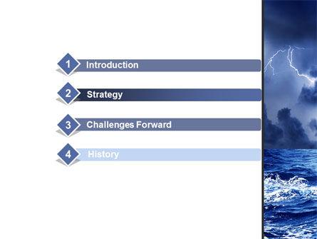 Navy Blue Sea PowerPoint Template, Slide 3, 09113, Nature & Environment — PoweredTemplate.com