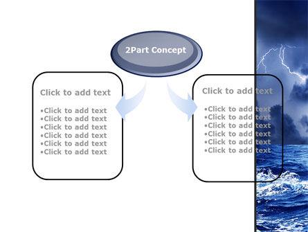 Navy Blue Sea PowerPoint Template, Slide 4, 09113, Nature & Environment — PoweredTemplate.com