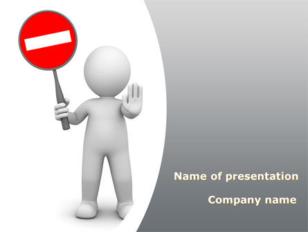 Business Concepts: Stop Moving PowerPoint Template #09114