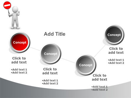 Stop Moving PowerPoint Template Slide 6